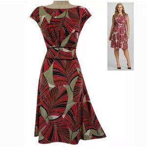 Size 14 Large XL▪️GORGEOUS PALM PRINT SUMMER DRESS